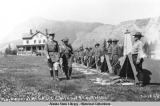 Inspection of troops at Chilkoot Barracks.