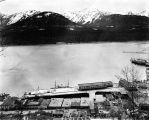 [South Franklin Street waterfront and Pacific Steamship Co. Wharf from Mount Roberts; 1921.]