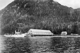 Cannery at Stag Bay, Chichagof Island; survey ship Patterson.