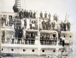 Excursionists on S. S. ADMIRAL SAMPSON, returning from Katmai Volcano.  June 25-12.