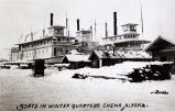Boats in winter quarters, Chena, Alaska.