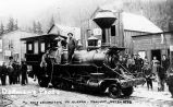 First locomotive in Alaska - Skagway, July 20, 1898.