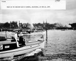 Boats at the starting line in Olympia, Washington, on June 26, 1928.
