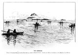 """The Surround"" a fleet of Sea-otter Hunters in North Pacific, South of Saanak Island: marking..."