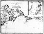 A photograph of a chart showing part of coast of N.W. America (Prince William Sound).