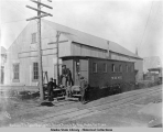 Warehouse No. 5. Cannon Ball Express, Seward Peninsula Ry., Nome, Alaska. Oct. 1st, 1906.