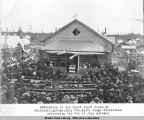 Dedication of the first Court House at Fairbanks, Alaska, July 4th, 1904.