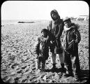 Eskimos on Nome Beach.