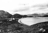 Unalaska, Jessie Lee home in the middle ground, the first building, 1917.