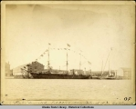 USS THETIS decorated. Feb. 22, 1888