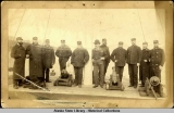Officers of THETIS on ship's deck.