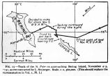 Track of the vessel ST. PETER on approaching Bering Island, Nov. 4-5, 1841