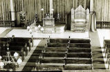 Church interior, Metlakahtla [Metlakatla], Alaska, copyrighted 1897.