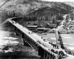 The Sikanni Chief Bridge, first bridge completed on the Alaskan Highway, 1943. Alberta, Canada.