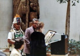 Installation and dedication of the Old Witch Pole in the State Office Building in Juneau.  April,...