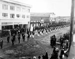 Carpenters Union Labor Day Parade.  Sept-3, 1917 Anchorage, Alaska.