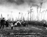 Decoration Day, May 30th 1918.  Anchorage Alaska.  Ceremony at the cemetery.