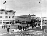Decoration Day, May 30, 1918.  Anchorage, Alaska.  Services on Fourth Avenue.