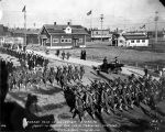 "Parade Held in Honor of ""Recruits"" about to depart for their training stations. ..."