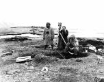 [Massacre Bay, Attu: men during Battle of Attu, at observation post overlooking Bay, May 17, 1943.]
