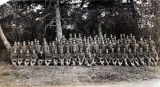 Draft men. Co. C. 14th Infantry Fort Seward Alaska.