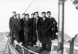 "1935 Wrangell Institute basketball team ""Golden Eagles"" aboard the fishing vessel..."