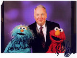 Autographed portrait of two of the Muppet characters from Sesame Street with Frank Murkowski;...