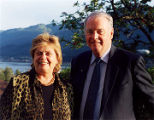 Gov. Frank Murkowski and Nancy Murkowski, Aug. 28, 2003, following a reception at the Governor's...