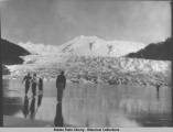 Skating on Mendenhall Lake, 1936.