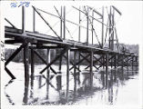 High water while erecting steel Mi. 11.3 Rt. 48, 1937.