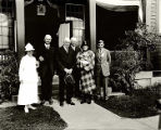 President [Harding] and Party. Sitka Alaska. Aug. 1923. Merrill-Sitka.