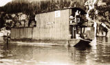 [Floating barge dwellings- used as shelter from open boats?]