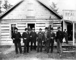 Land appraisers, 1st railway in Alaska & Counsel, Skagway Oct. 12, 1898.