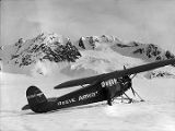 Bob Reeves plane on Columbia Glacier.