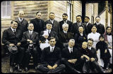 [Group portrait of men, women, and children; Edward Marsden; Presbytery of Alaska members.]