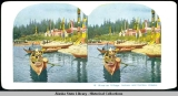 Kasa-an [Kasaan] Village, Indians and Canoes, Alaska.