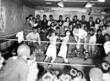 [Eskimo children's boxing match; Ed Levin is referee.]