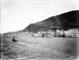 [Unidentified waterfront town.]