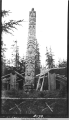 Clan house and totem pole at Kasaan 1936?