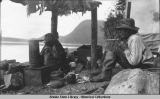Tlingit camp at Auke Bay, 1915.