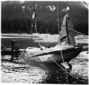 Jan. 1943: Raising fatal wreck of Don Glass' Woodley Airways NC-14566.