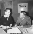 Dora Sweeney and Bill Egan, 1953 Legislative session.