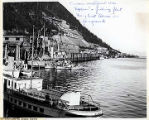 "Juneau Waterfront 1920 ""Explorer"" & fishing fleet  Ferry boat ""Alma"" in..."
