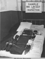 Sample bag lay-out for inspection, 1942.