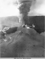 Eruption of Zoomie Crater on Umnak Island, 12 Jun 1945.
