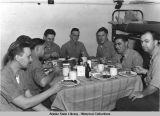 """The Naval Air Facility Photo Lab . . .  Honor Dinner. . . Aug. 19, 1944."""