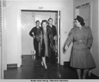 Olivia de Havilland entering Navy Dispensary, March 3, 1944