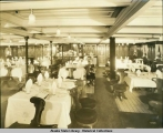 Dining Room, probably the S.S. Alameda.