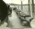 Top deck and lifeboats on the S.S. Aleutian.