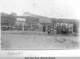 Group of people on beach at Ft.  Alexander (Nushagak).